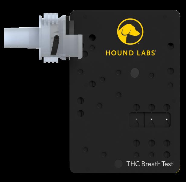 Hound Marijuana Breathalyzer single cartridge for capturing breath samples