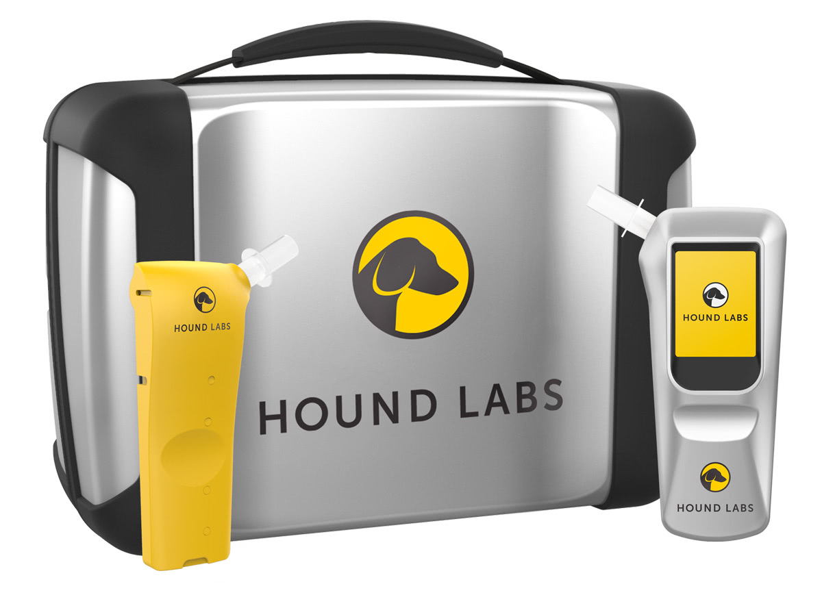 the hound breathalyzer device and case