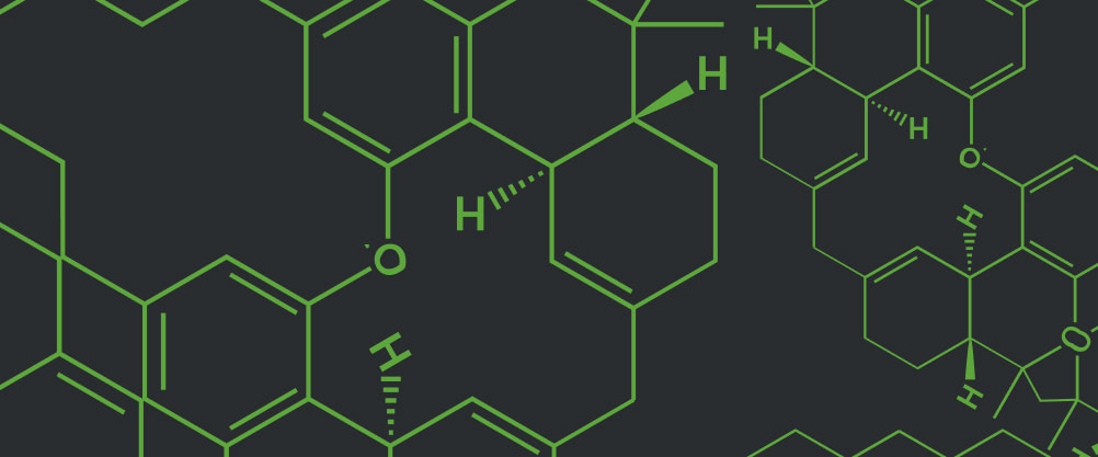 THC molecule graphic for featured box on homepage